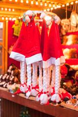 Christmas hats on the street on sale