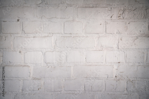 canvas print picture Alte Mauer *** Weiss