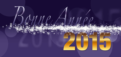 Carte de vœux_Bonne année 2015 violet kazy