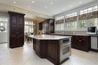 Kitchen in luxury home with center island