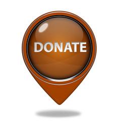 Donate pointer icon on white background