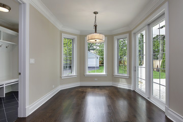 Breakfast room in new construction home
