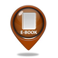 E-book pointer icon on white background