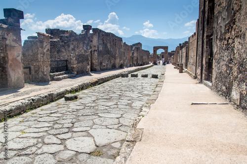 Ruins of ancient city Pompeii - 72744873