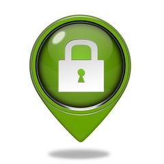 protect pointer icon on white background