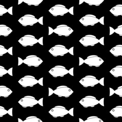 Fish symbol seamless pattern