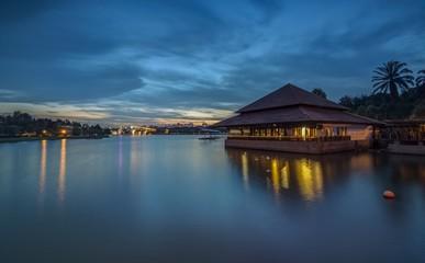 Blue Hour at Seafood Restaurant of Putrajaya