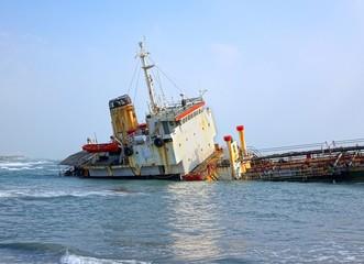 Shipwrecked Diesel Tanker