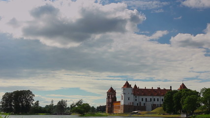 clouds over the castle