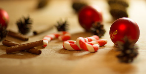 Christmas cookies with festive decoration with candy
