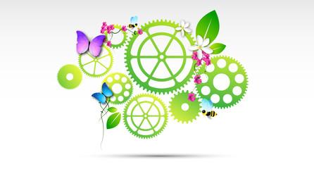 ecosistema, ingranaggi, impollinazione