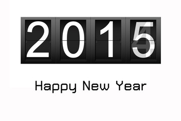 Happy New Year 2015, digital number countdown