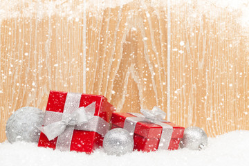 Christmas gift boxes and decor