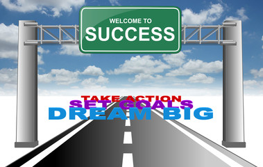 welcome to success dream goals action