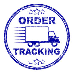 Order Tracking Stamp Means Logistics Trackable And Shipping