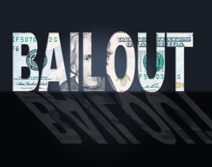 Bailout Dollars Means United States And Bailing