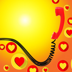 Romantic Call Represents Find Love And Blank