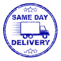 Same Day Delivery Represents Distributing Shipping And Logistics
