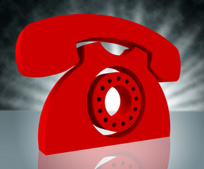 Telephone Call Shows Question Information And Chat