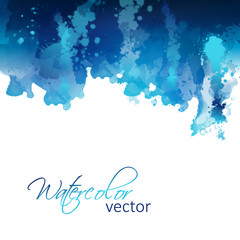 Abstract watercolor header background