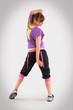 sportliche Frau beim Tanzen