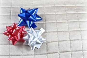 Red,White,Blue Christmas Ribbons for Veteran's Day Celebration