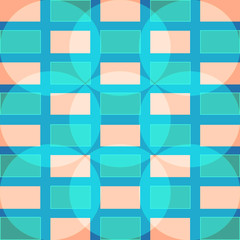 Simple seamless pattern of pink and blue squares