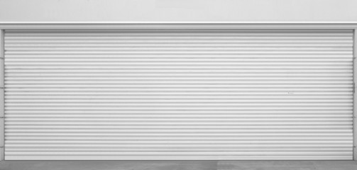 White door roller shutter texture and background