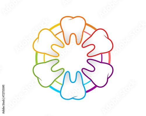 Fototapeta Dental Rainbow