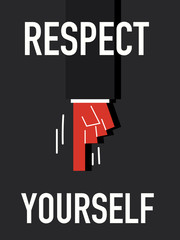 Word RESPECT YOURSELF