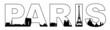 Typography Paris Skyline Silhouette