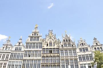 Guildhouses at Grote Markt in Antwerp, Belgium
