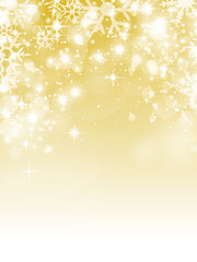 Hintergrund Schnee gold