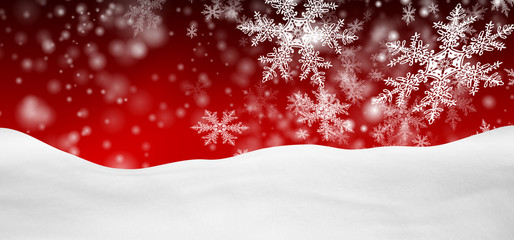 Weihnachtskarte, Hintergrund, Schnee, verschneit, rot, xmas, BG