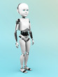 canvas print picture - Robot child standing.