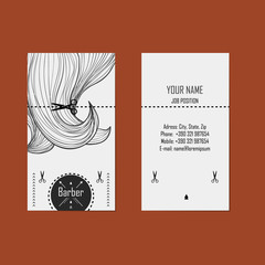 Business card hairdresser (barber)