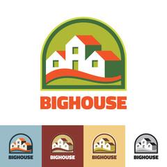 Big house - vector logo. Real estate logo.