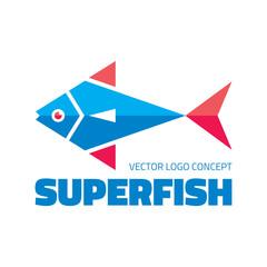 Superfish - vector logo. Fish vector illustration.