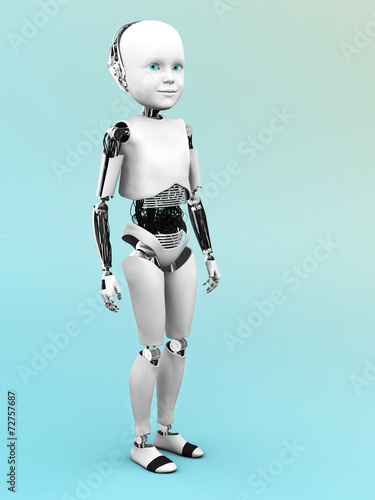 canvas print picture Robot child standing.