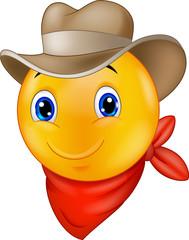 Cowboy smiley emoticon