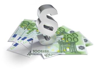 100 Euroscheine mit Paragraph 2