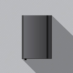 Blank notebook cover template