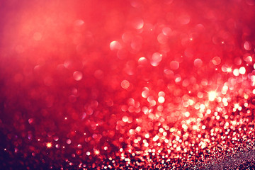 Christmas Background. Red Holiday Blinking Background