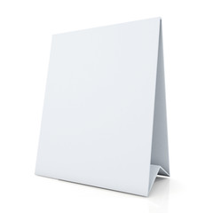 clean white papers carton desk display in isolated background