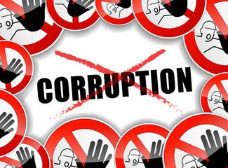 no corruption abstract concept