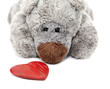 Obrazy na płótnie, fototapety, zdjęcia, fotoobrazy drukowane : ours en peluche et coeur Saint Valentin