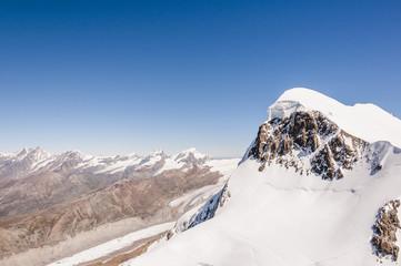 Zermatt, Bergdorf, Breithorn, Berggipfel, Alpen, Schweiz