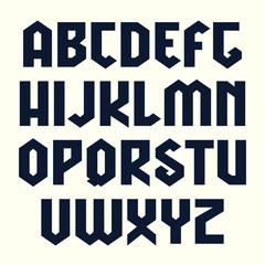 Sans serif lineales geometric font in gothic style
