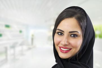 Portrait of a beautiful Arabian Woman wearing Hijab