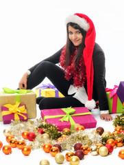 Weihnachtsfrau mit Geschenke